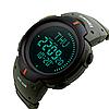 Мужские спортивные часы Skmei 1231 Compass. с компасом цвет хакки