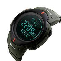Мужские спортивные часы Skmei 1231 Compass. с компасом цвет хакки, фото 1