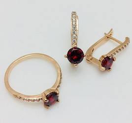 Набор Виатрикс серьги+ кольцо размер кольца 18, 19, 20