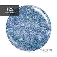 Гель-лак Naomi № 129 (голубые блестки), 6 мл