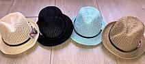 Летняя детская шляпка из рисовой соломы