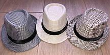 Соломенная шляпка унисекс