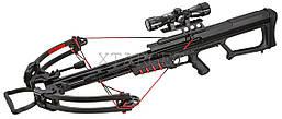 Арбалет Man Kung MK-400BK Блочный, винтовочного типа, пластиковый приклад цвет черный