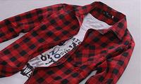 Мужская рубашка красно-черная клетка, фото 1