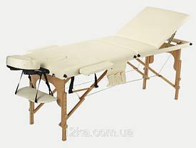 Массажный стол BodyFit, 3 сегментный,деревянный Красный, фото 3