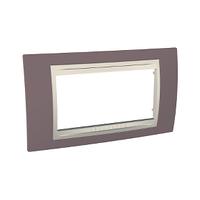 Рамка 4-мод. Unica Schneider Лиловый/Слоновая кость, MGU6.104.576