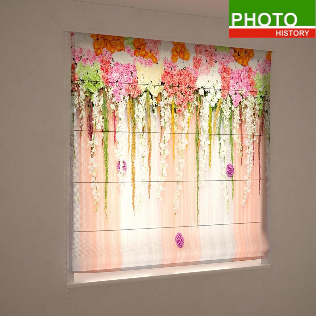 Римские фотошторы каскад разноцветных цветов