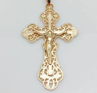 Крест на цепочку православный, сзади Спаси и Сохрани