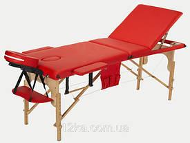 Массажный стол BodyFit, 3 сегментный,деревянный Черный, фото 2