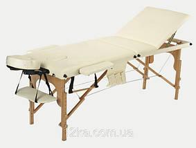 Массажный стол BodyFit, 3 сегментный,деревянный Черный, фото 3