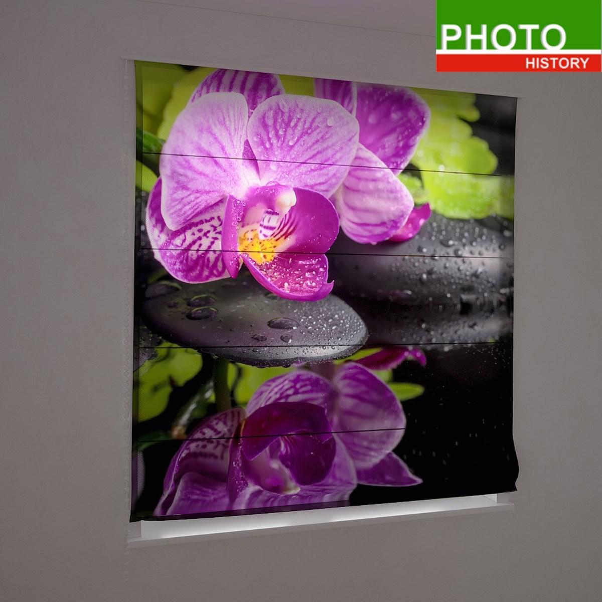 Римские фотошторы цветы отражение орхидеи в воде