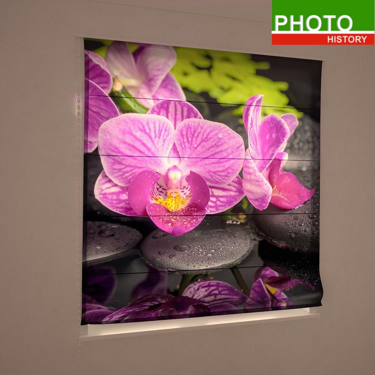 Римские фотошторы цветы просто орхидея