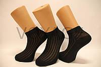 Мужские носки средние лляные в сеточку НЛ 25-27 черный