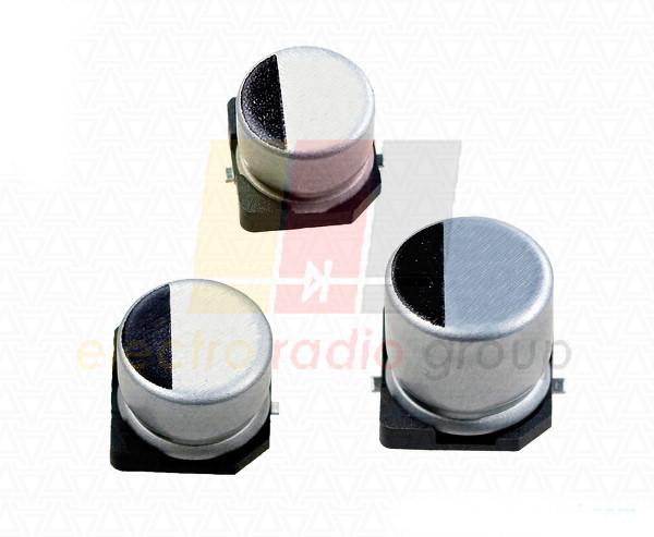Конденсатор электролитический SMD  100мкФ х 25В Low ESR VD