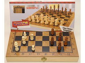 3в1. Шахматы, шашки, нарды. ДЕРЕВО (34,5 х 34,5 СМ). I5-51