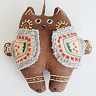 Кофейный кот в кожушке. Украинский сувенир., фото 1