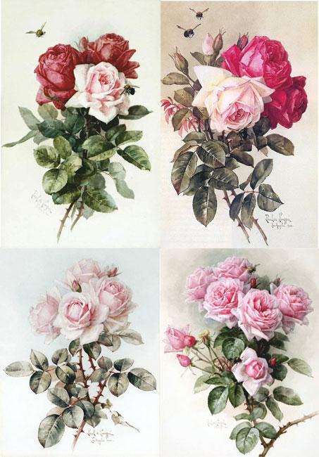 ДК4-009. Декупажна карта Рожеві троянди.