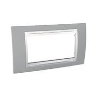 Рамка 4-мод. Unica Schneider Туманно серый/Белый, MGU6.104.865