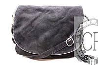 Замшевая итальянская сумка-мессенджер B6L001 черный