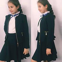 Пиджак школьный на девочку 122-134см, фото 3
