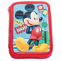 Пенал на 2 отделения Микки Маус /Mickey для мальчиков (15x21x4,2 см) ТМ ARDITEX WD11422