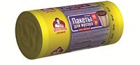 Пакеты для мусора TM Помощница 40л 30шт HDPE, 55см х 70см, желтые