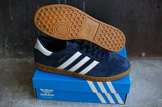 Кроссовки мужские Adidas Hamburg синяя замша, фото 2