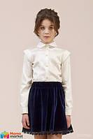 Школьная блузка Зиронька 26-8016-1, цвет айвори