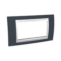 Рамка 4-мод. Unica Schneider Серо-зелёный/Белый, MGU6.104.877