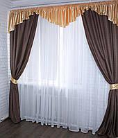 Комплект шторы с ламбрекеном купить недорого