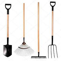 Лопаты, грабли, метлы