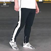 Спортивные штаны с лампасами мужские Yad Tape, чёрно-белые