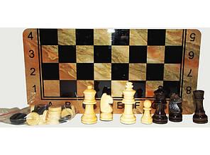 3в1. Шахматы, шашки, нарды. ДЕРЕВО (30 х 30 см). I5-36