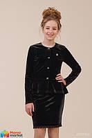 Школьный кардиган Зиронька 76-8003-1 , цвет черный