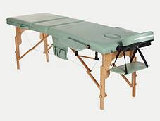 Массажный стол BodyFit, 3 сегментный,деревянный Бирюзовый, фото 2