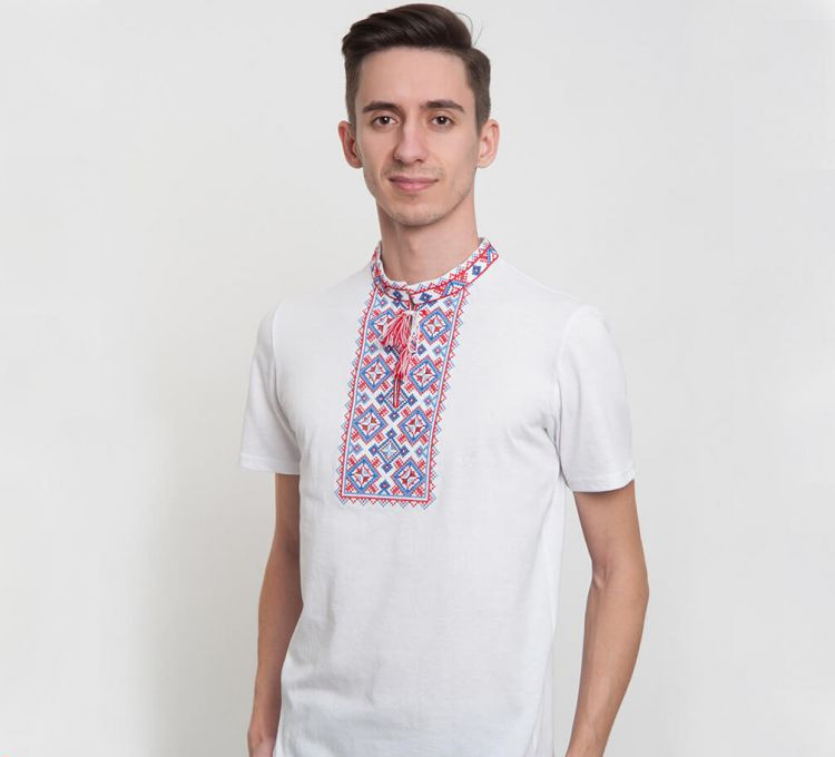 Мужская вышитая футболка FCHK2 / размер S M XXL 3XL