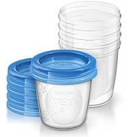 Контейнеры для хранения грудного молока, 180 мл, Avent