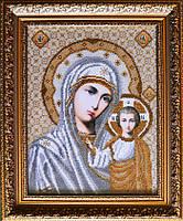 Казанская икона Божией Матери вышивка бисером, фото 1