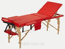 Массажный стол BodyFit, 3 сегментный,деревянный Бирюзовый, фото 3