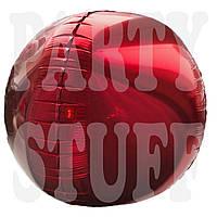 Фольгированный шар Сфера 3D красная, 50*28 см