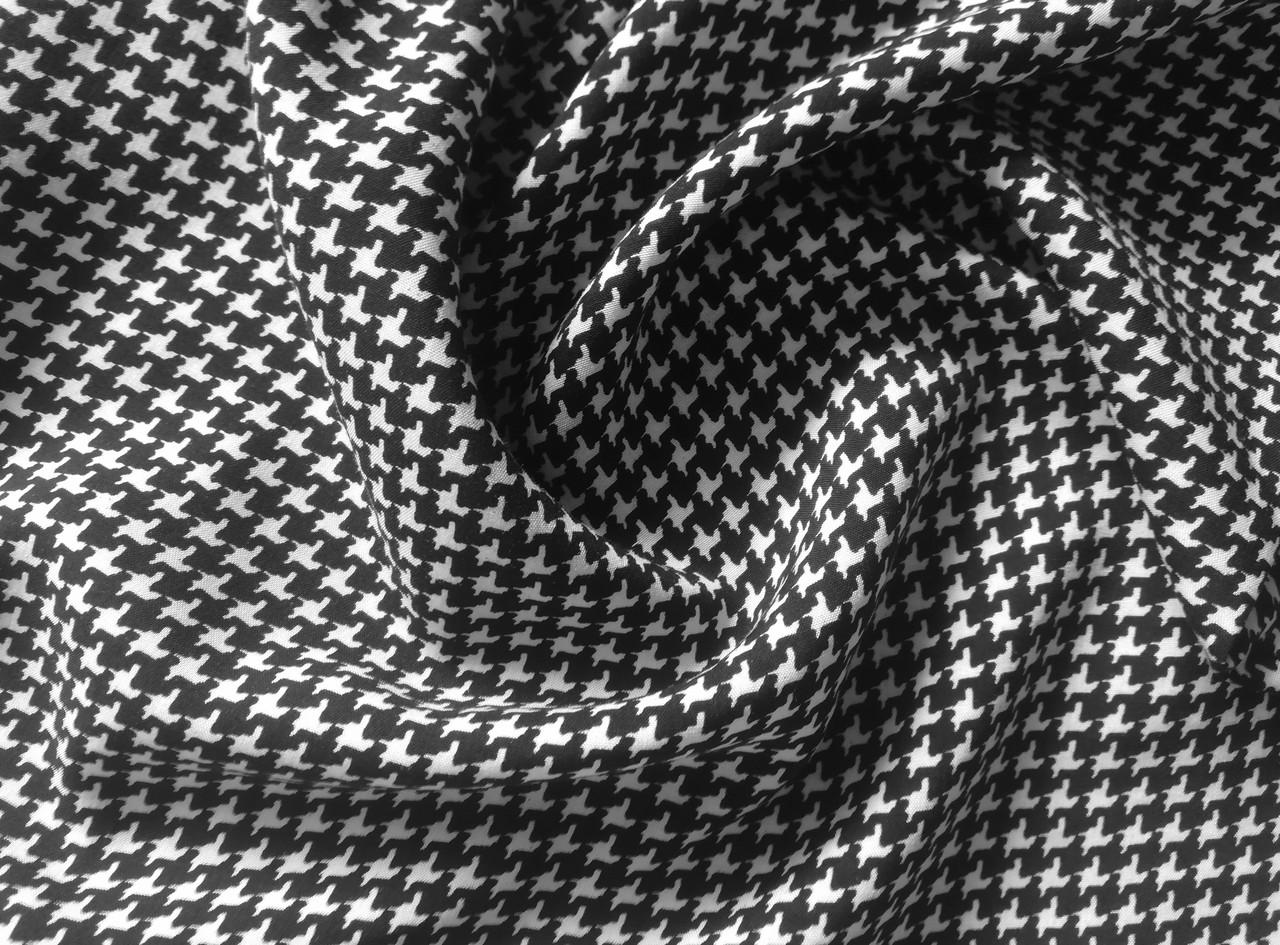 Ткань штапель принт гусиная лапка (от 10 метров)