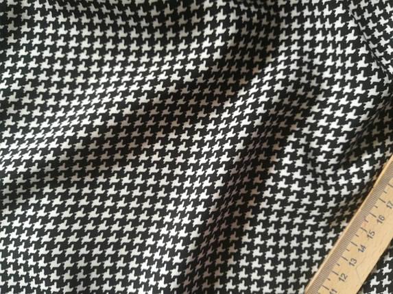 Ткань штапель принт гусиная лапка (от 10 метров), фото 2