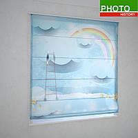 Римские фотошторы радуга в облаках