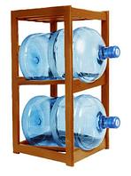 Подставка деревянная под 2 бутыля Вишня