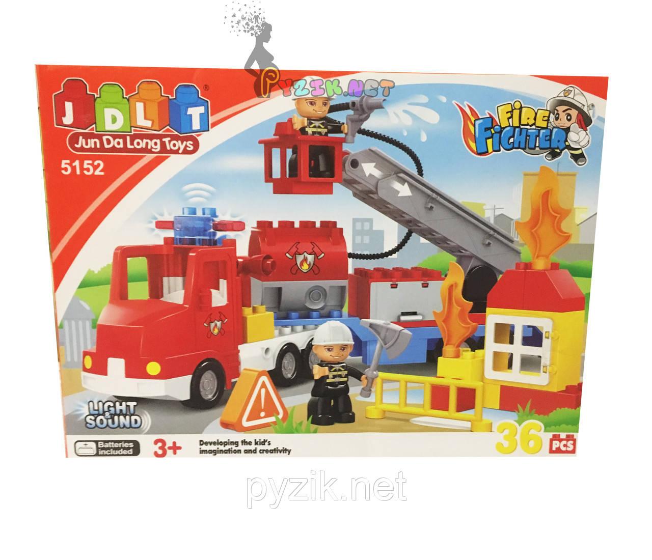 Конструктор JDLT 5152 «Пожарная машина», 36 дет