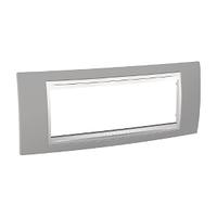 Рамка 6-местная Unica Schneider Туманно-серый/Белый, MGU6.106.865