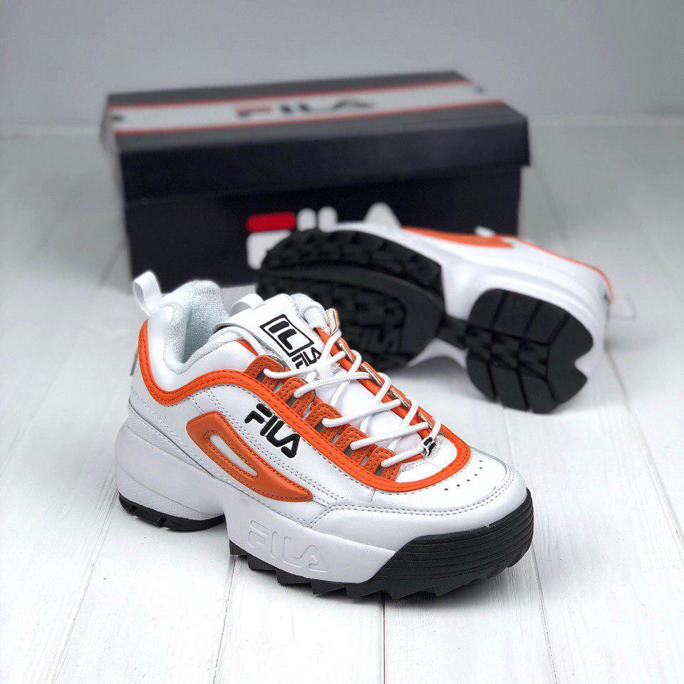 Кроссовки Fila Disruptor II orange black white - Brandshoes в Житомире 428b9f59d889d