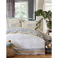 Набор постельное белье с пледом Karaca Home - Espilo 2018-1 синий евро