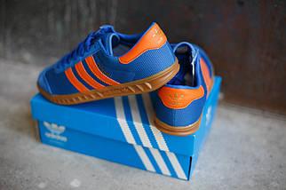 Кроссовки мужские Adidas Hamburg светло-синие, фото 2