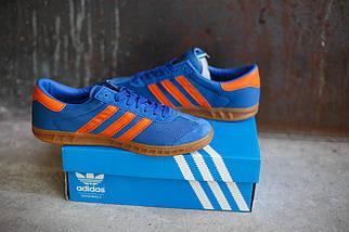 Кроссовки мужские Adidas Hamburg светло-синие, фото 3